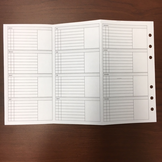 #8-1 Monthly Tracker Backside