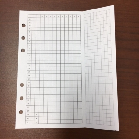 #2 Two months tracker with single foldout